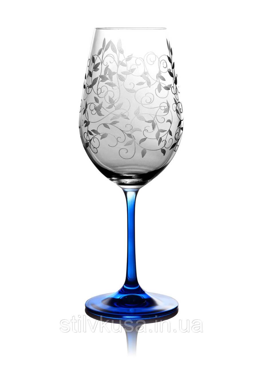 Набор бокалов для вина Viola Lido кобальт, 6 шт.