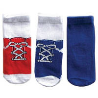 Носки для мальчика (3 пары в упаковке) Luvable Friends из США, 6-18 мес.
