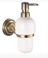 Дозатор для мыла настенный бронзовый 6-028