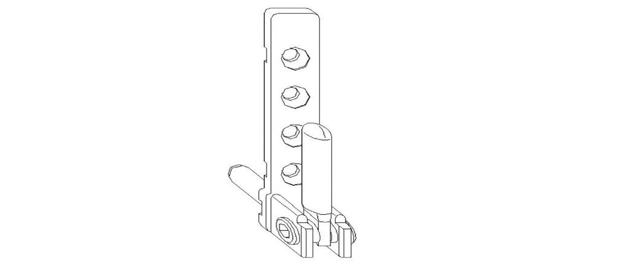 Нижняя рамная петля  MACO 7 мм