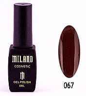 Гель лак Milano 067, 8 мл