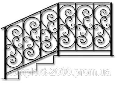 красивы кованные ограждения на лестницу