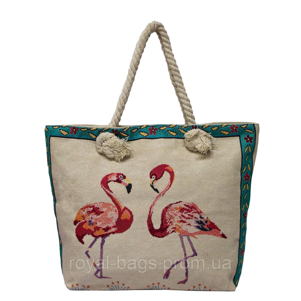 "Летняя сумка с принтами ""Фламинго"" 5 Рисунков"