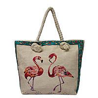"Летняя сумка с принтами ""Фламинго"" 5 Рисунков , фото 1"