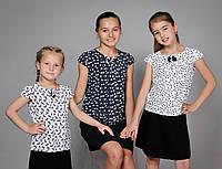 Детская блузка для девочки с коротким рукавом
