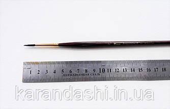 Кисть Pinax Poseidon 801 БЕЛКА микс № 2 круглая длинная ручка, фото 3