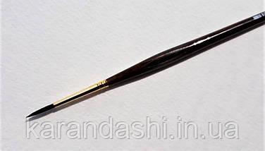 Кисть Pinax Poseidon 801 БЕЛКА микс № 2 круглая длинная ручка, фото 2
