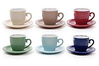 "Чайный набор ""Simple 5"",6 чашек с блюдцами"