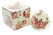 Цукорниця порцеляновий 300мл Корейська троянда