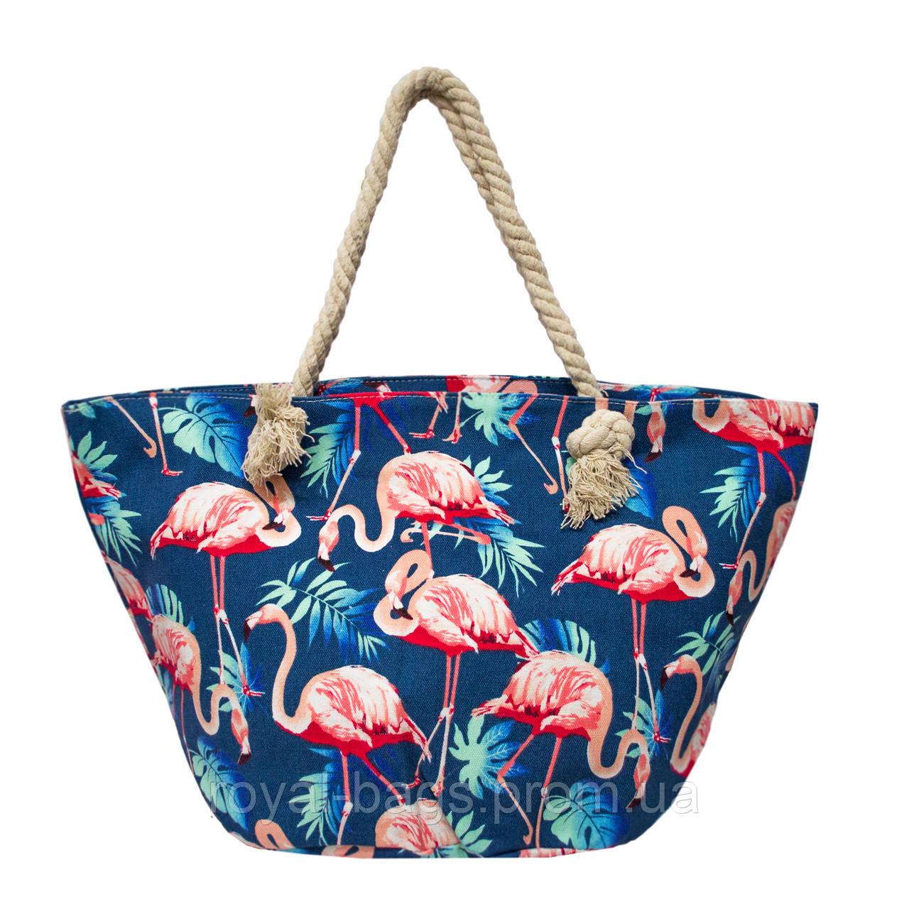 Пляжная сумка с принтом Flamingo 5 Цветов