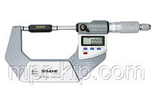 """Мікрометр цифровий Shahe 50-75mm / 0-1""""0.001 (5203-75) в водозащищенном металевому корпусі IP 65"""