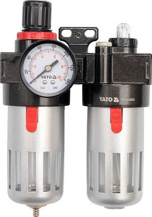 Редуктор давления с манометром и фильтром, YATO YT-2385, фото 2