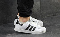 Женские Мужские кроссовки кеды Adidas Superstar Адидас Суперстар White Black 36-44 размеры реплика