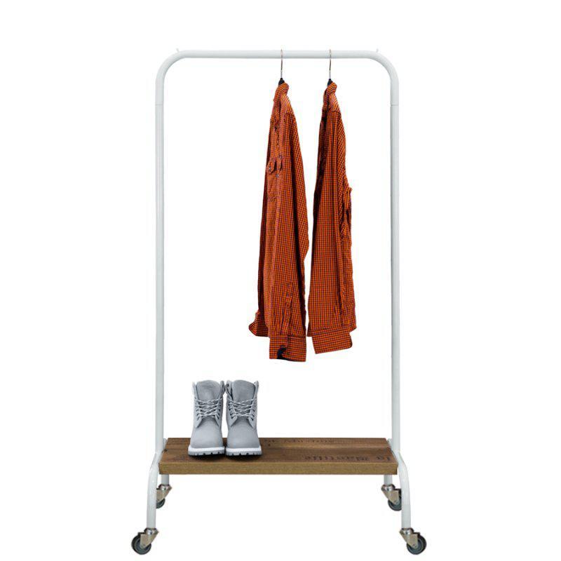 Стойка для одежды на колесиках (металл/дерево)