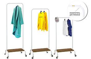 Стойка для одежды на колесиках (металл/дерево), фото 2