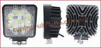 Светодиодная LED фара рабочего света квадратная 27W 06-27 Yellow Дальний свет