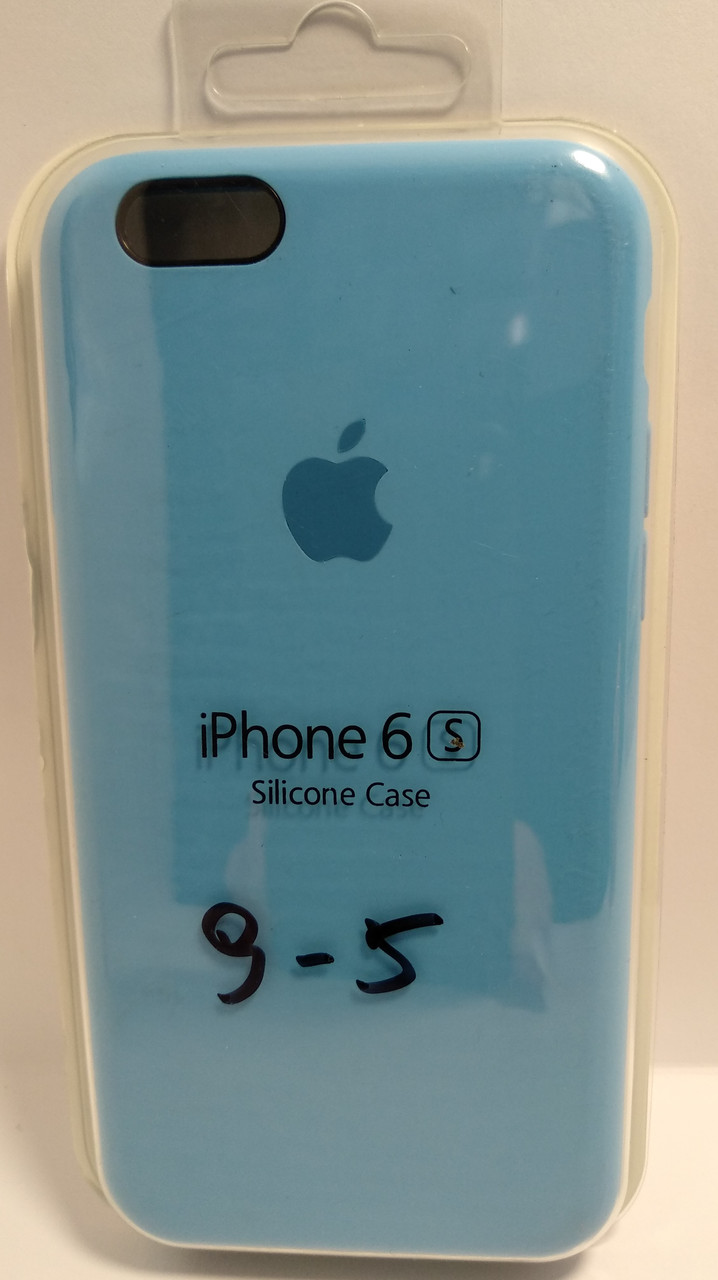Силіконовий чохол Apple Silicone Case (MMWF2ZM / A) для Iphone 6 / 6s ( Blue | Голубий )