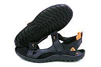 Мужские кожаные сандалии Nike NS orange (реплика)