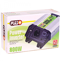Преобраз. напряжения PULSO IMU 820/ 12V-220V/ 800W/ USB-5VDC2.0A/ мод.волна/ клеммы, фото 1