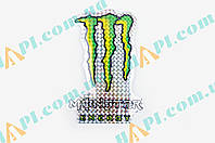 Наклейка логотип MONSTER ENERGY (12x17см, голограмма) (#7312A)