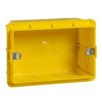 Коробка для наружного монтажа 3-мод Schneider Electric Unica Желтый (MGU8.603)