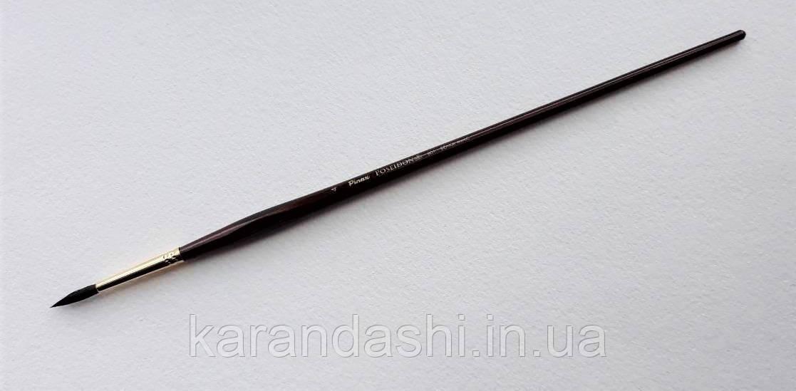 Кисть Pinax Poseidon 801 БЕЛКА микс № 4 круглая длинная ручка