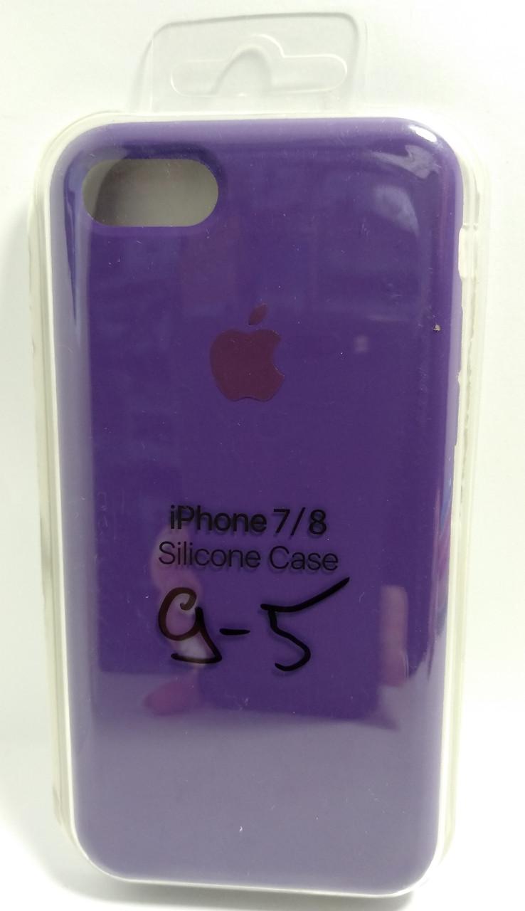 Силіконовий чохол Apple Silicone Case (MMWF2ZM / A) для Iphone 7 / 8 ( Purple | Фіолетовий )