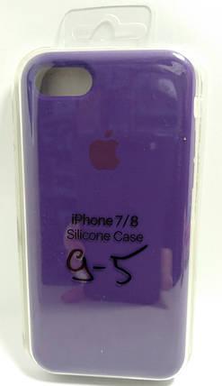 Силіконовий чохол Apple Silicone Case (MMWF2ZM / A) для Iphone 7 / 8 ( Purple | Фіолетовий ), фото 2