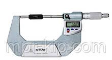 """Мікрометр цифровий Shahe 75-100 mm / 0-1""""0.001 (5203-100) в водозащищенном металевому корпусі IP 65"""