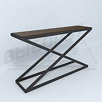 """Столик в прихожую-гостиную в стиле лофт """"ГОНЭА"""". Стол на металлокаркасе."""