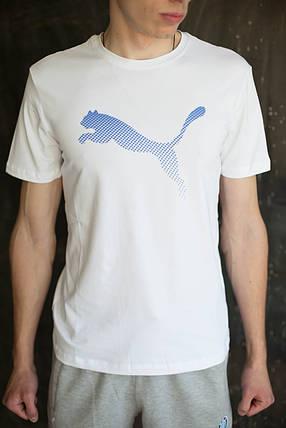 Мужская футболка Puma  белая, фото 2