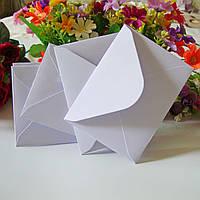 Конверты белые из дизайнерской бумаги C5 подарочные, 125 г/м2 текстурная полоска