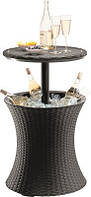 Стол-траснформер Keter Cool Bar RATTAN, коричневый