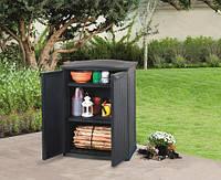 Ящик для хранения Keter RATTAN STYLE - BASE SHED Compact Garden 230 л, серый