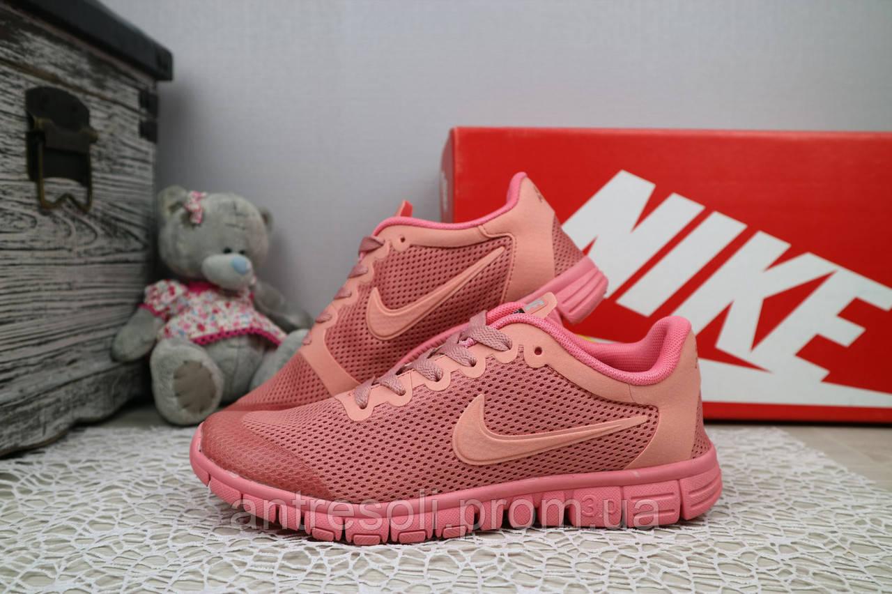 Женские Кроссовки Nike Free Run 3.0 Розовые 10981