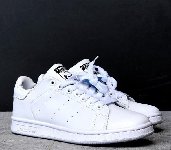 Кросівки Adidas Stan Smith White. Живе фото. Топ якість (Репліка ААА+)