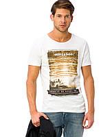 Белая мужская футболка LC Waikiki / ЛС Вайкики с надписью на груди Inbication