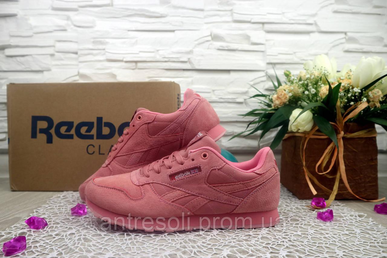 Женские кроссовки Reebok Classik цвет розовый 10952