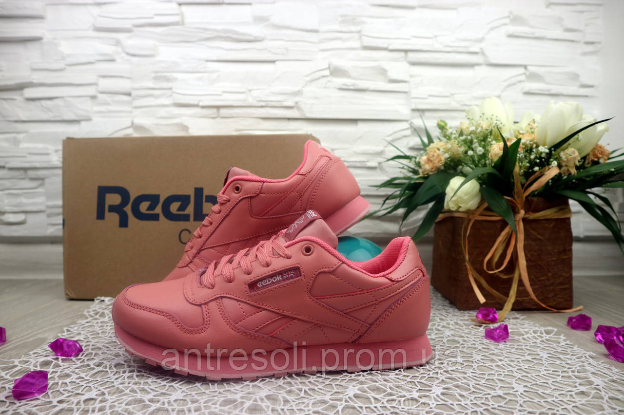 Женские кроссовки Reebok Classik цвет розовый 10953