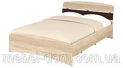Кровать полуторная Милана-140 с изножьем ДСП