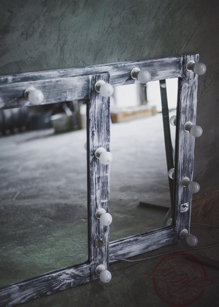 Гримерное (визажное) зеркало с лампочками LED для дома, салонов красоты, фотостудий, кафе, торговых помещений