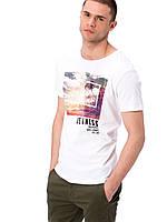 Белая мужская футболка LC Waikiki / ЛС Вайкики с надписью на груди Quietness