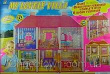 Игрушечный кукольный домик 6983 с мебелью кк ri hn