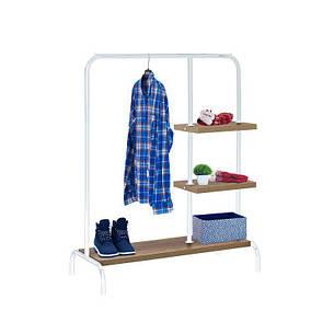 Стойка для одежды Лофт 6 белая (металл/дерево), фото 2