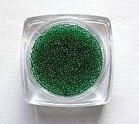 Бисер (бульонки) для декорирования ногтей и ресниц зелёный  IL 02-13