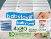 Вологі серветки Babylove sensitive