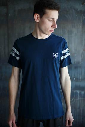 Мужская футболка Puma Ferrari Темно синяя, фото 2