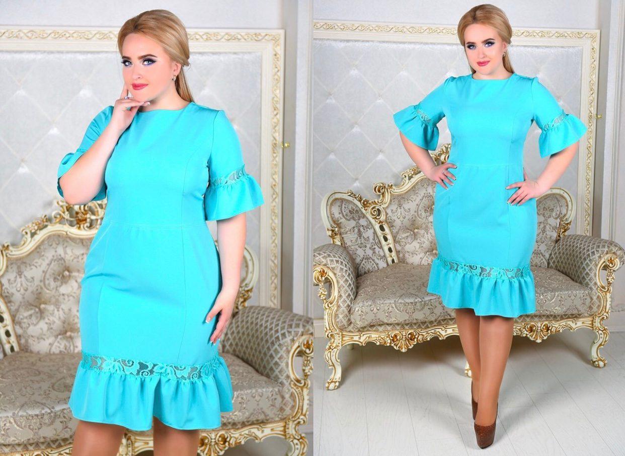 Шикарное женское платье ткань *Костюмная* 50 размер батал