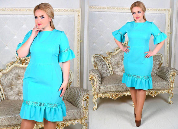 Шикарное женское платье ткань *Костюмная* 50 размер батал, фото 2