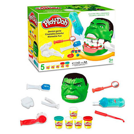 Пластилин, 5 цветов, стоматолог, челюсть, инструменты, MK2139